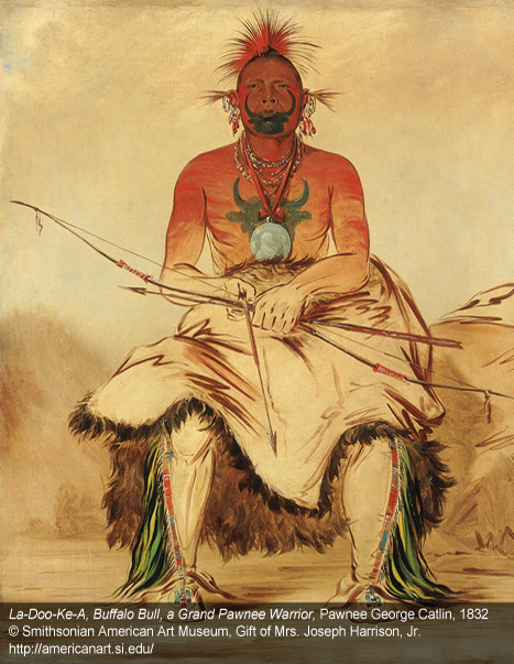 Image from the exhibition of works by George Catlin at the National Prtrait Gallery