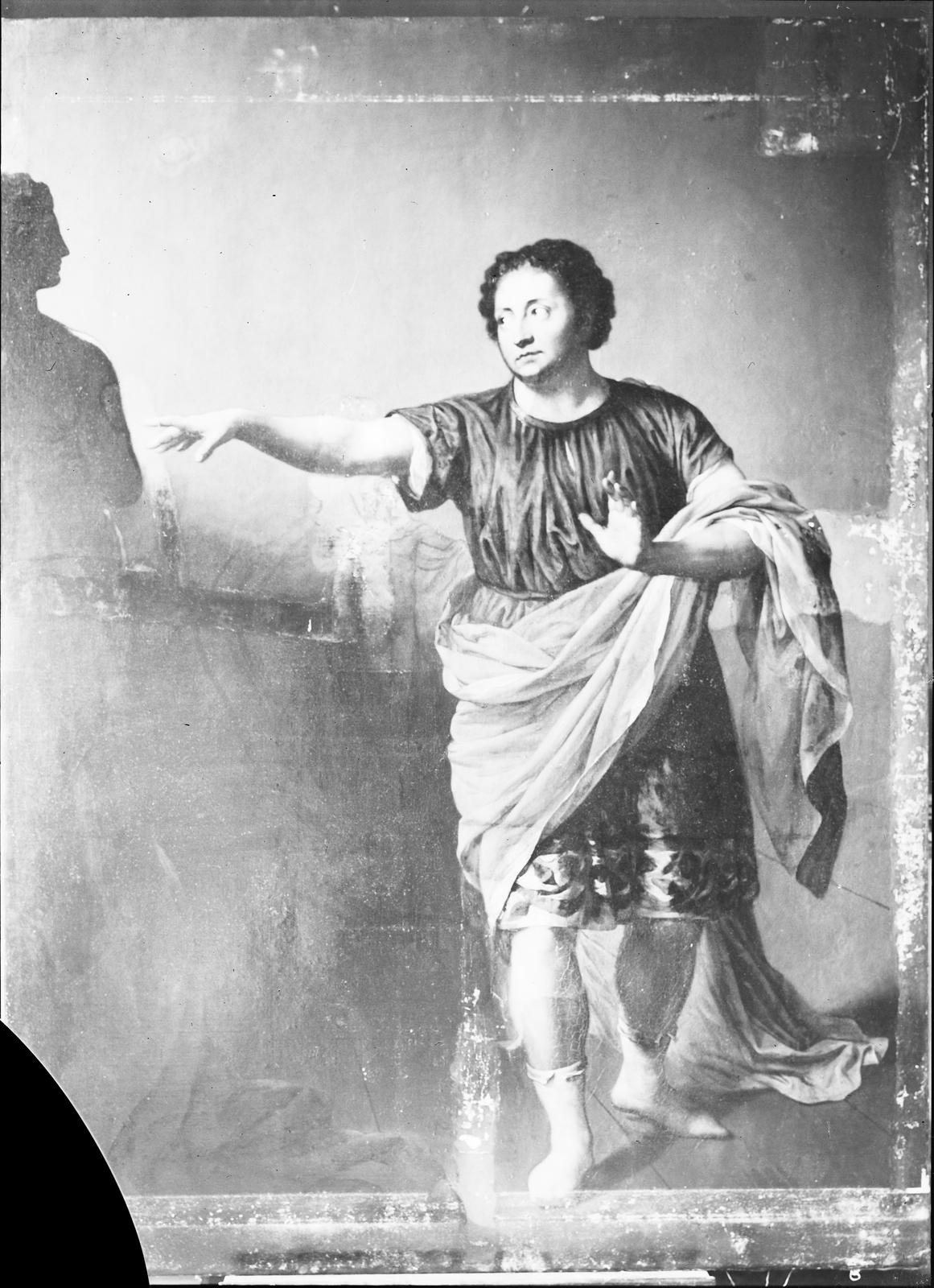 Anton Graff: Iffland als Pygmalion (1800); photograph/glass negative; Stiftung Preussische Schlösser und Gärten, Berlin.