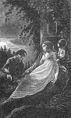 Clemens Brentano: Godwi oder das steinerne Bild der Mutter, frontispiece (1800)
