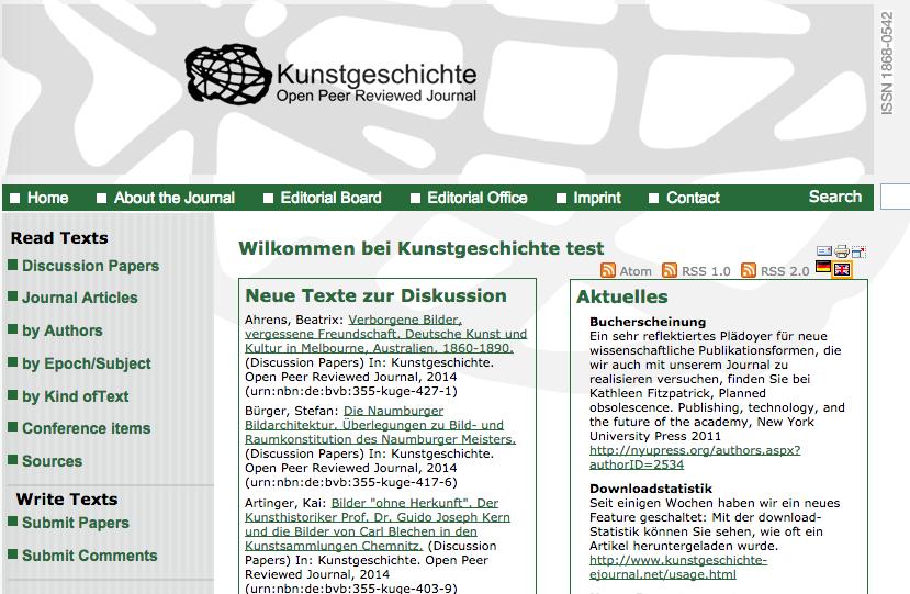 Kunstgeschichte is an open access, open peer-review journal of art history.