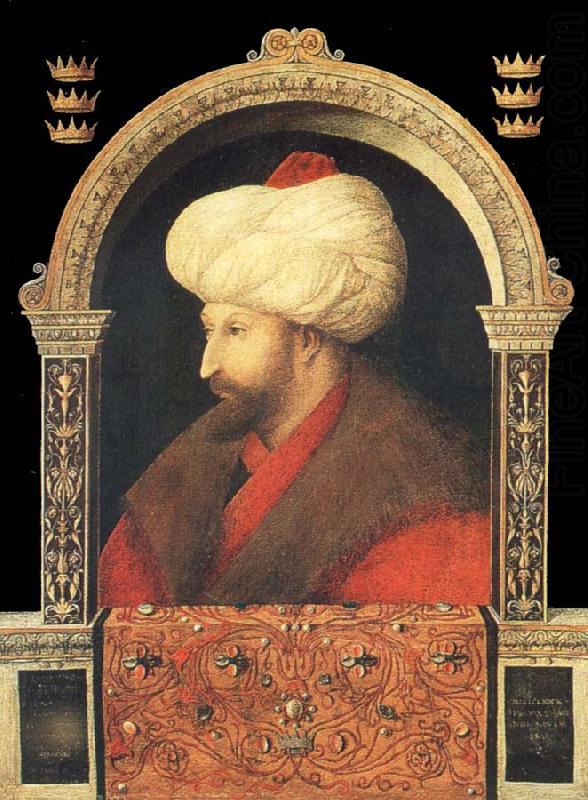 Bellini's image of Mehmet II, now in the National Gallery.