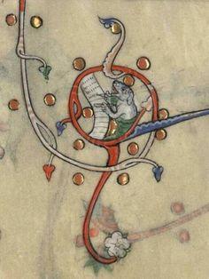 Marginal image, Verdun MS 107, 14th century