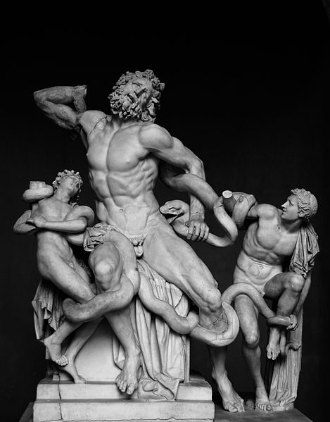 Laokoon and his Sons, sculpture in marble, Vatican Museum, Rome.