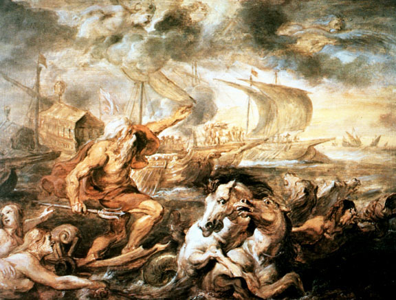 'Neptune Calms the Tempest' by Peter Paul Rubens