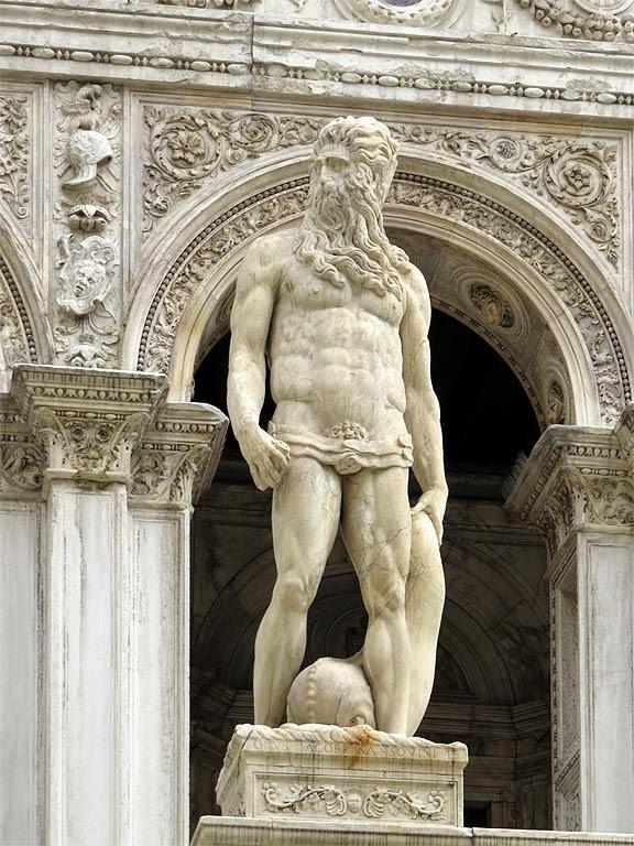 Jacopo Sansovino, c. 1567, Neptune in marble, Venice