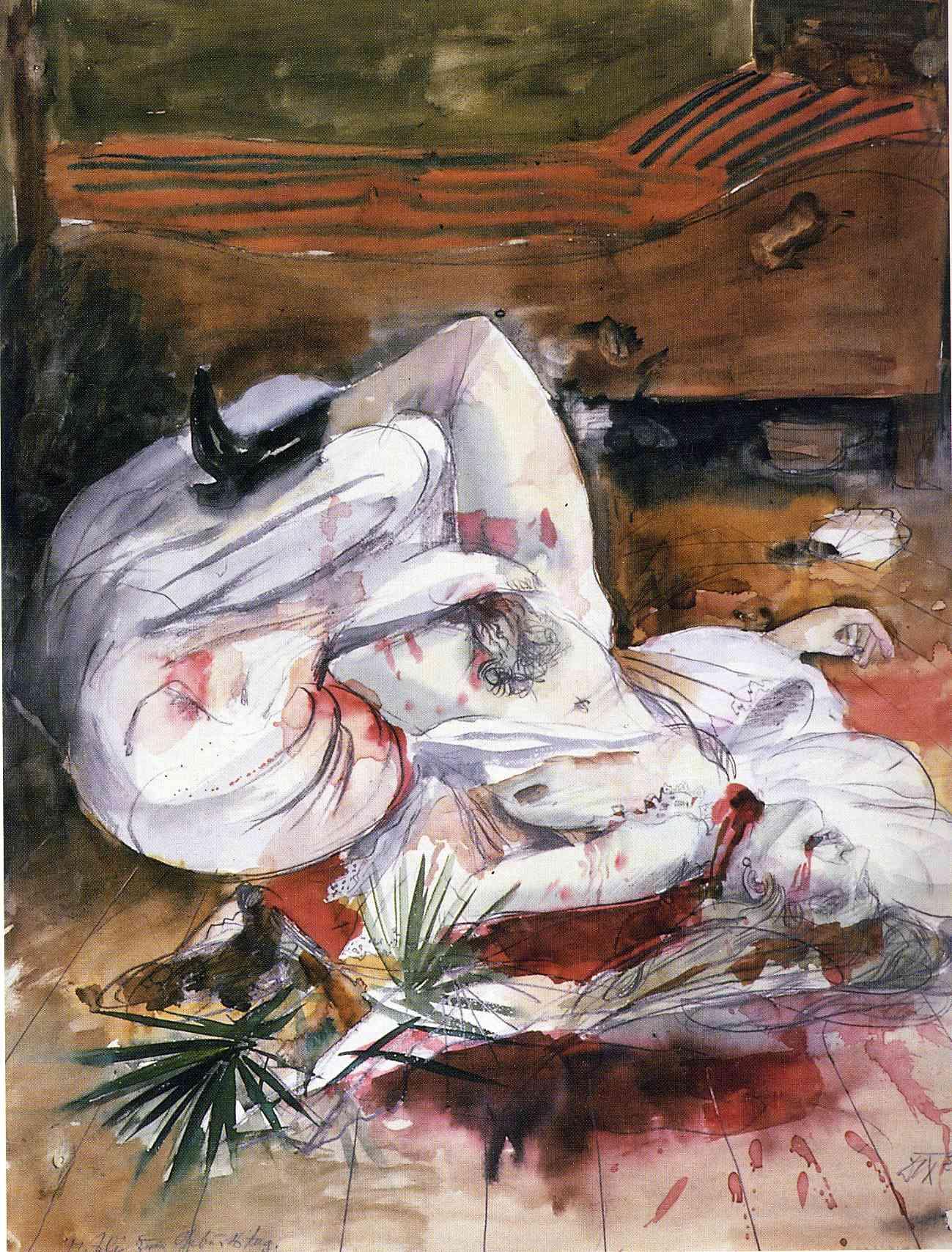 Otto Dix, Scene II (Mord), 1922, water color on paper